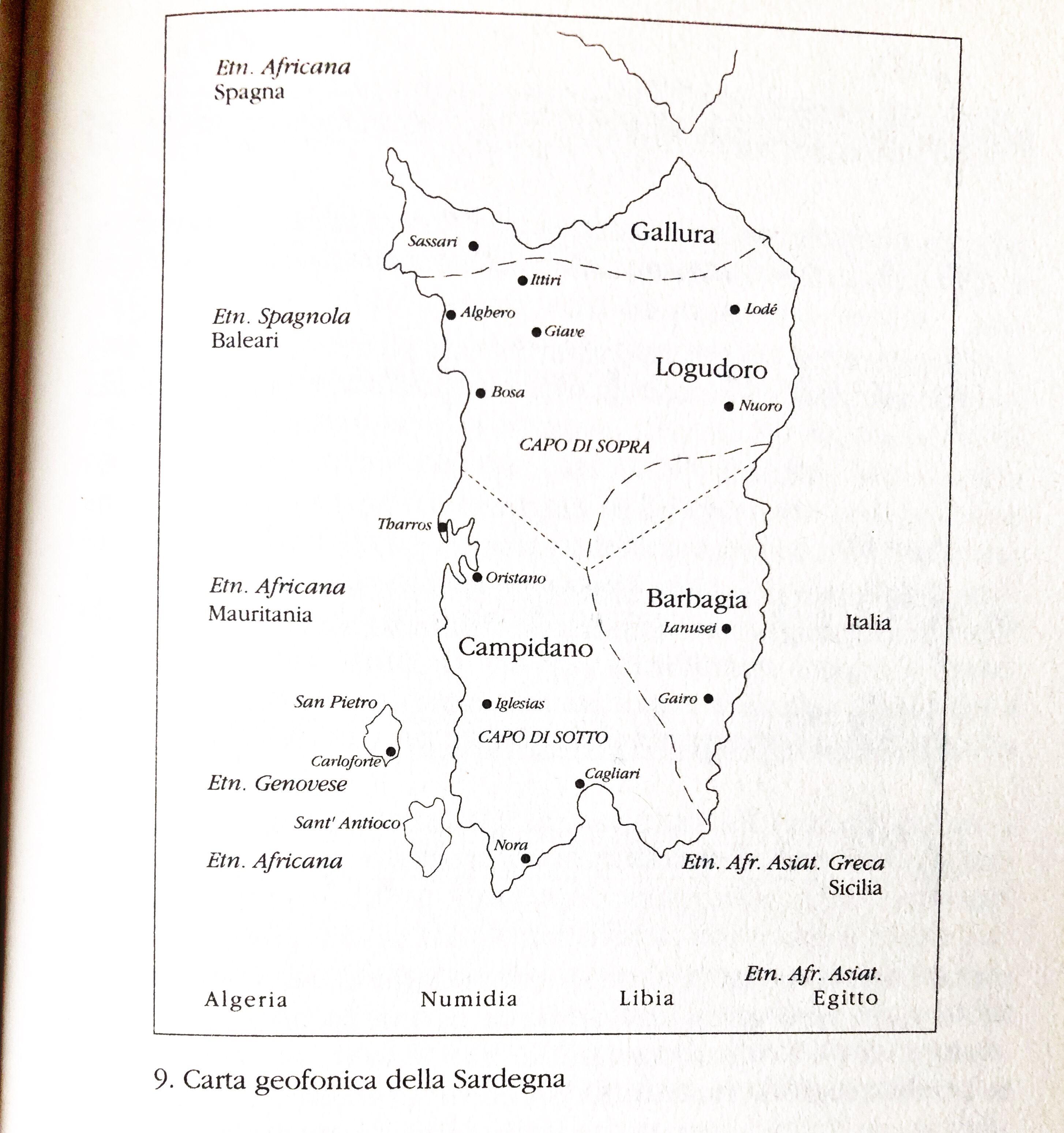 Bosa Cartina Geografica.Carta Geofonica Della Sardegna Soundwalk
